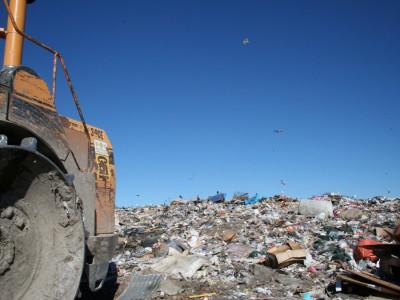 Wysypisko odpadów komunalnych, fot. Marcin Wrzos
