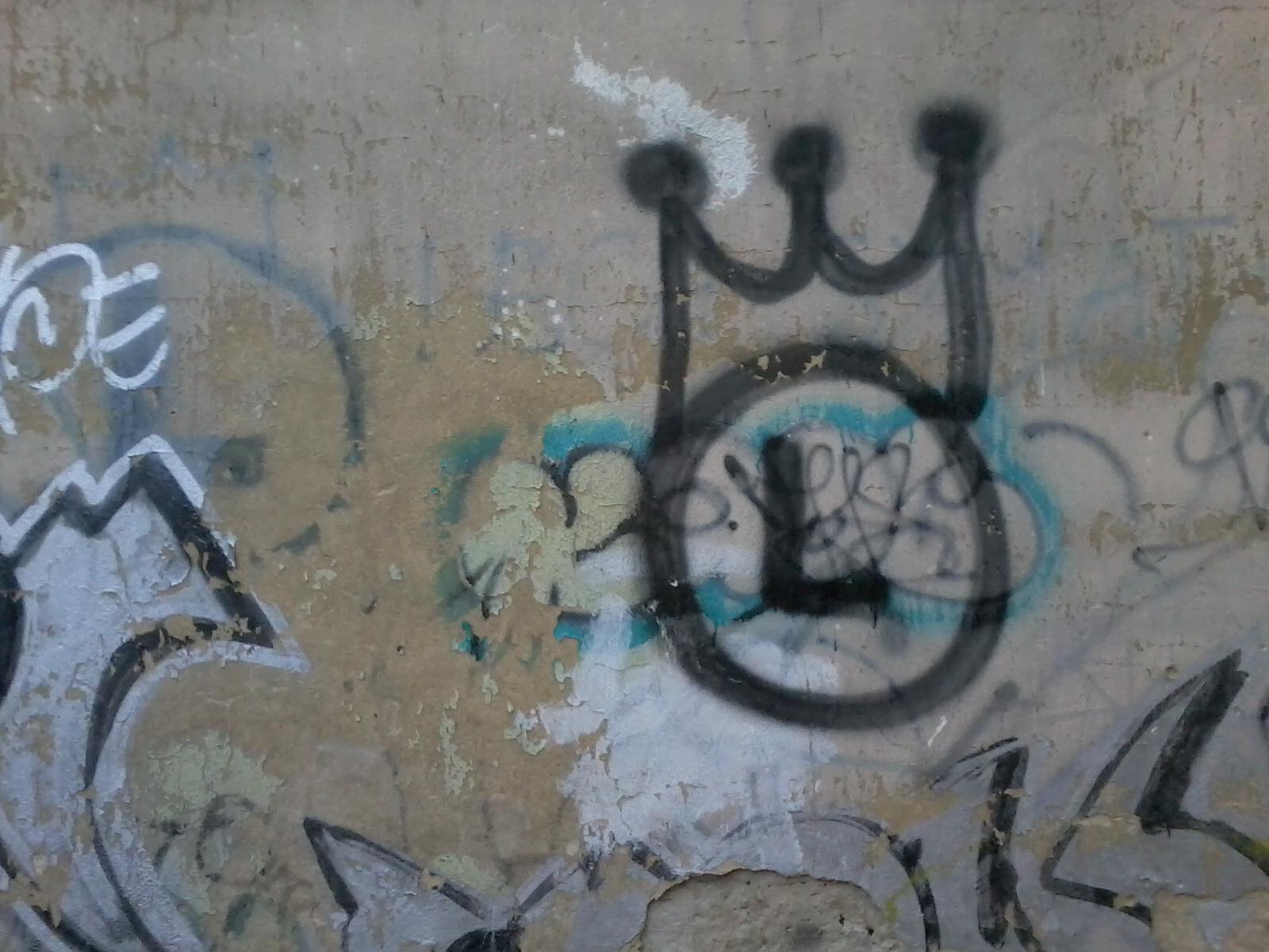 Graffiti, symbol Legii Warszawa