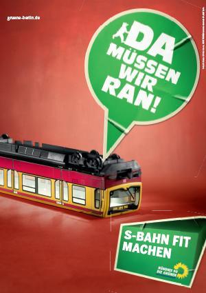 Zieloni w Berlinie - plakat wyborczy