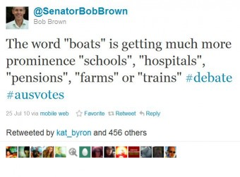 """Tweet Boba Browna nt. słowa """"łódka""""."""