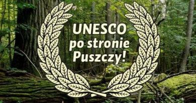 UNESCO za ochroną Puszczy Białowieskiej
