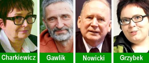 Ewa Charkiewicz, Radosław Gawlik, Maciej Nowicki i Agnieszka Grzybek