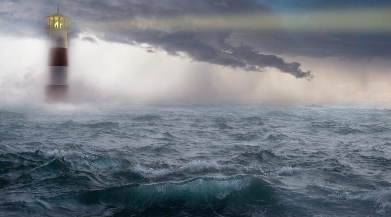 Morze, rozbitek, latarnia morska