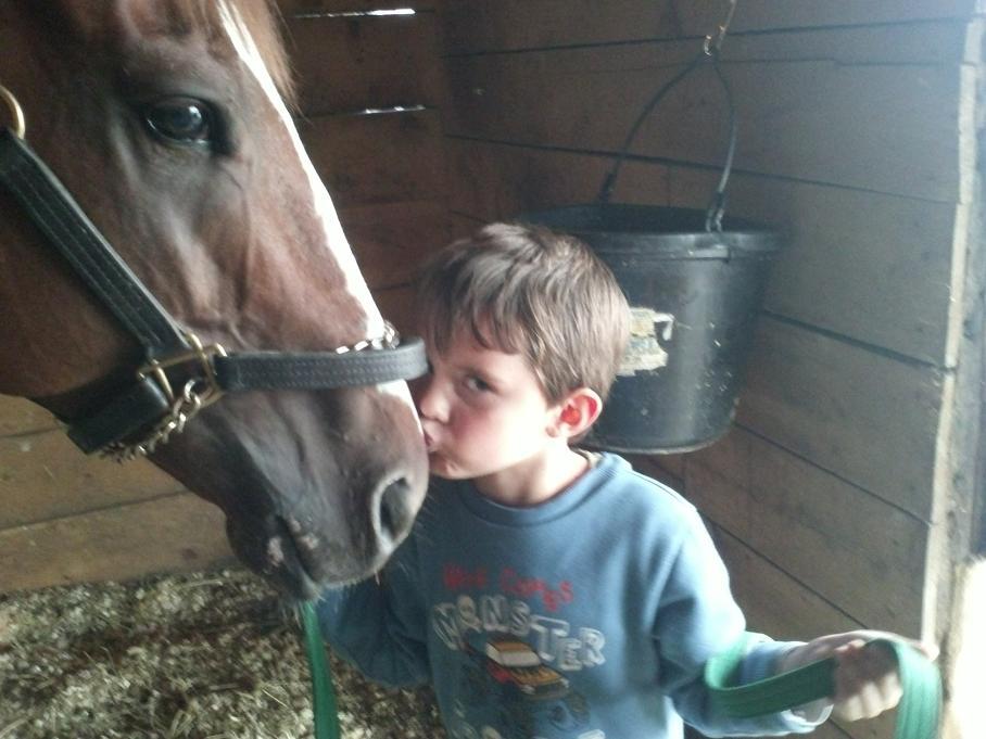 Fotografia przedstawia chłopca z koniem. Fot. Olga Nowak