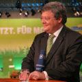 Das Motto des GrŸnen Parteitags in NŸrnberg lautet: Jetzt. FŸr Morgen. Reinhard BŸtikofer freut sich im ARD Interview, kurz vor Ende des fŸr ihn sehr erfolgreichen Parteitags ... noch einmal mit Schrecken davon gekommen zu sein ...
