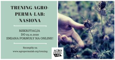 Zaproszenie: szkolenie Agro-Perma-Lab: Nasiona!