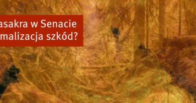 Biomasakra w Senacie – nie zatrzymana, ale zminimalizowana